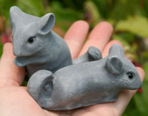 Baby Chinchilla Garden Figures