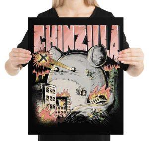 Chinzilla Funny Chinchilla Poster