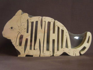 Chinchilla Wood Animal Puzzle