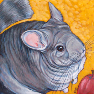 Custom Pet Portrait Painting Chinchilla Gifts