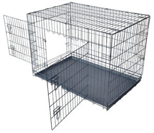Folding Wire Dog Crate for Chinchilla Travel Cage