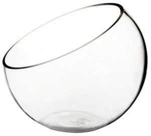 Glass Slant Bowl Vase