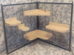 5 Piece Pine Chinchilla Ledge Set