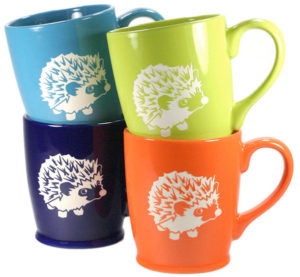Carved Hedgehog Mug Gifts for Hedgehog Lovers