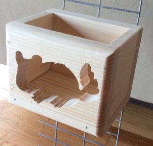 Chinchilla Cut Out Wood Hay Feeder Box