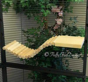 Wood Chinchilla Ledge and Ramp