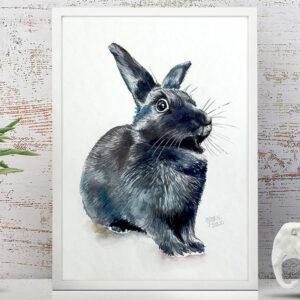 ustom Rabbit Portrait Painting