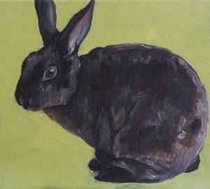 Custom Rabbit Portrait Oil Painting