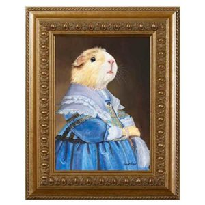 Guinea Pig in a Blue Dress Painting Magnet