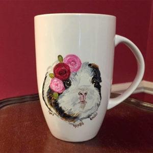 Handpainted Boho Guinea Pig Mug