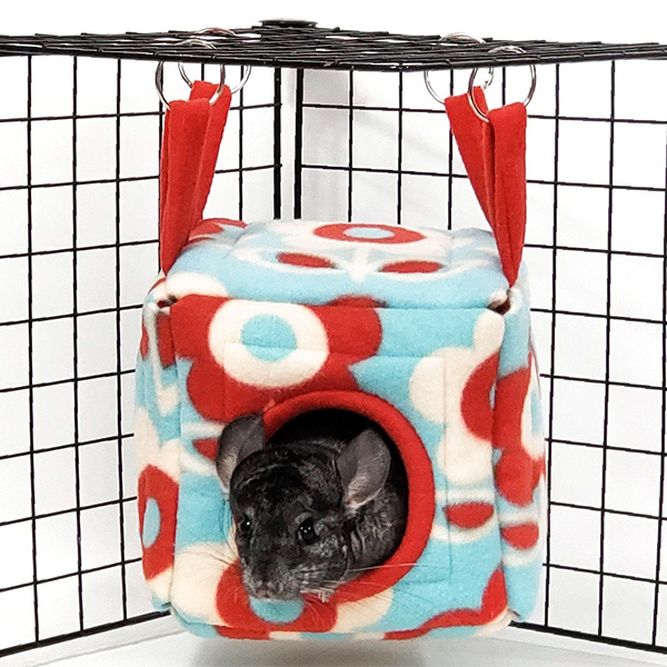 Hanging Fleece Chinchilla Cube
