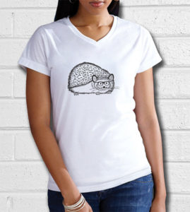 Hipster Hedgehog T-Shirt Gift for Hedgehog Lovers