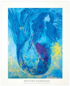 Mermaid Watercolor Art Print