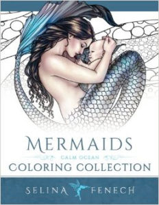 Mermaids Calm Ocean Adult Coloring Book