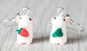 Miniature Guinea Pig Earrings