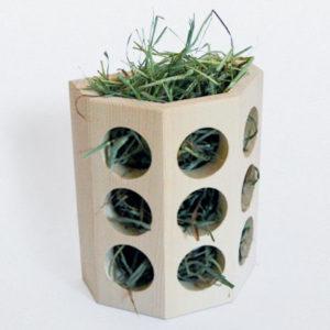 Semi-Octagonal Wood Hay Feeder