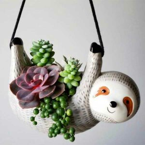 Sloth Hanging Planter Gifts for Sloth Lovers