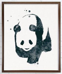 Panda Painting Watercolor Art Print