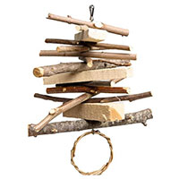Hanging Wood Mobile Chew Toy