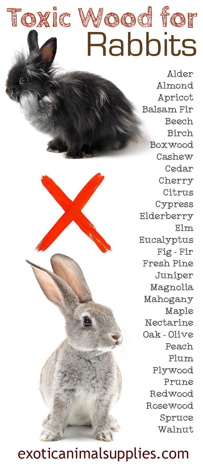 Toxic Wood for Pet Bunny Rabbits