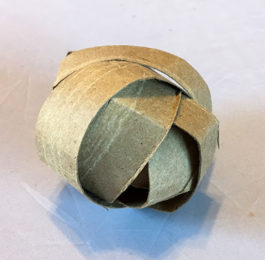 Cardboard Pellet & Treat Ball