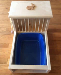 Rabbit Litter Box with Hay Feeder