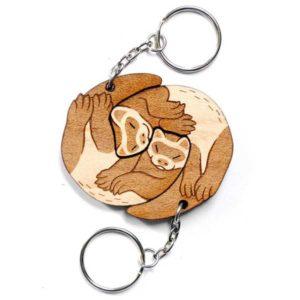 Interlocking Ferret Keychains
