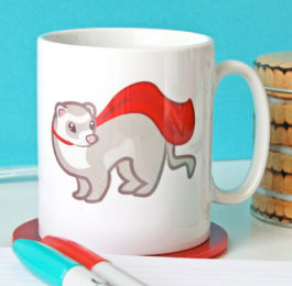 Superhero Ferret Mug