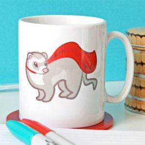 Superhero Ferret Mug