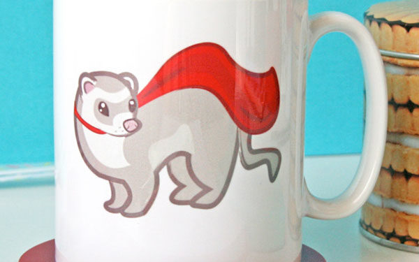 FERRET laser cut and engraved wood Magnet Great Gift Idea