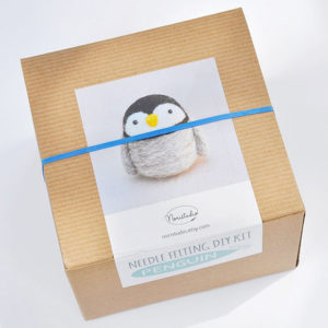 DIY Penguin Needle Felting Kit