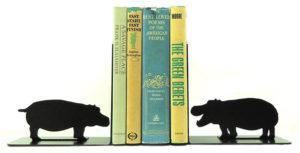 Hippo Book Ends