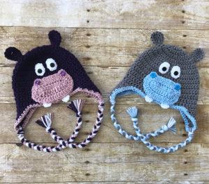 Hippo Gifts Crochet Hat