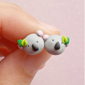 Handmade Koala Earrings