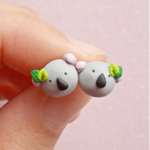Handmade Koala Earrings