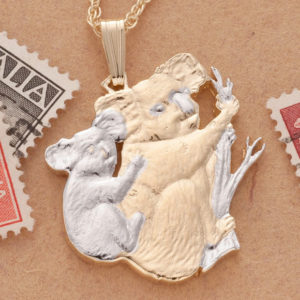 Koala and Baby Pendant Necklace