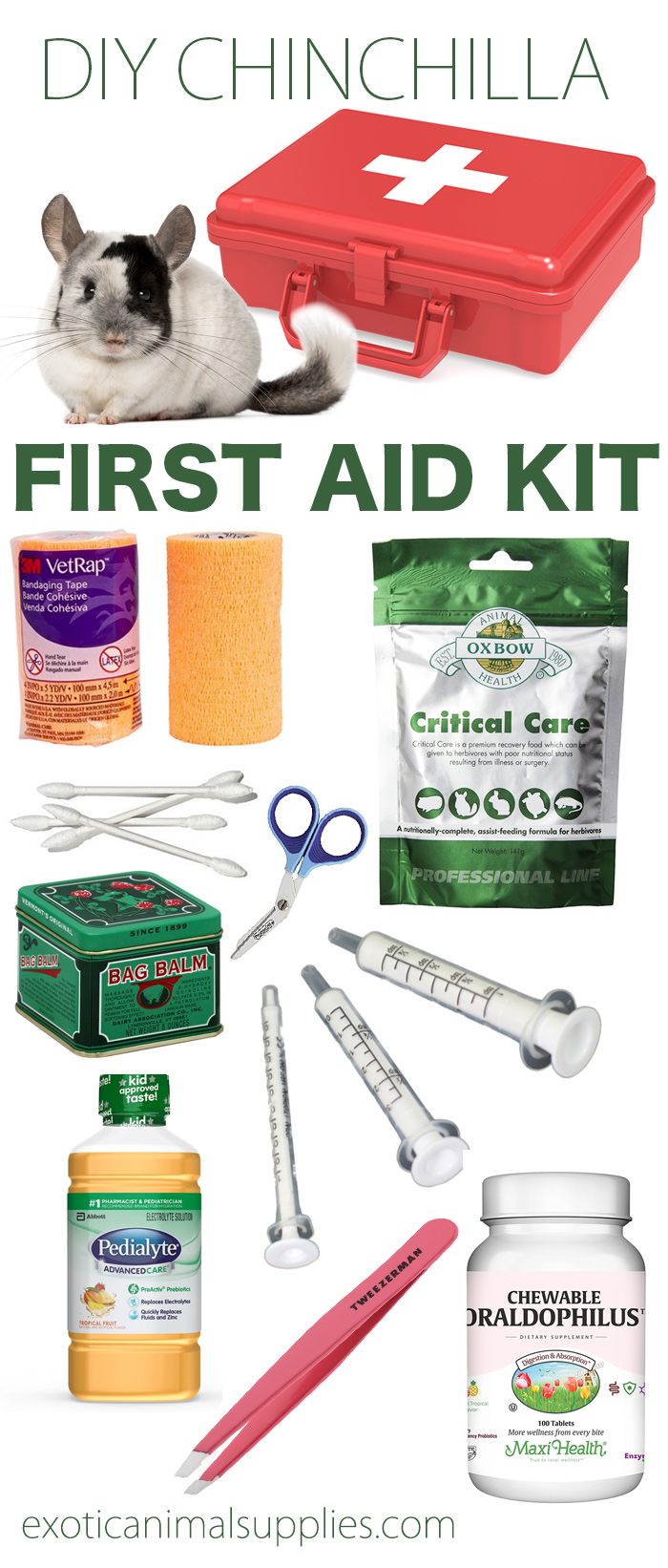 Everything You Need for a DIY Chinchilla First Aid Kit