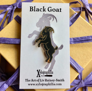 Black Goat Enamel Pin - Gift Ideas for Goat Owners