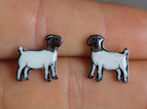 Boer Goat Earrings - Jewelry Gifts for Goat Owners