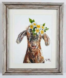 Painted Goat Art Print Gift Idea for Goat Lovers