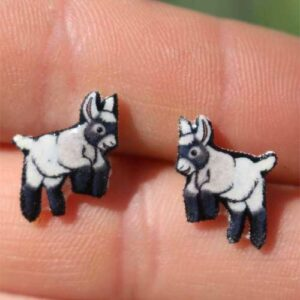 Playful Dwarf Goat Earrings - Jewelry Gifts for Goat Owners