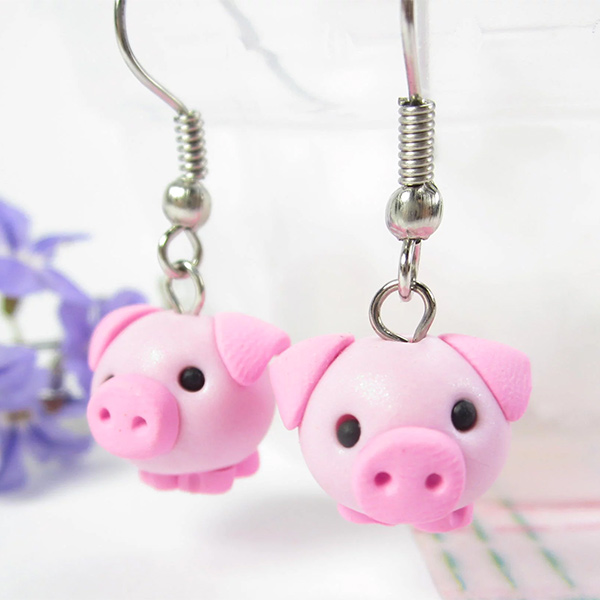 Pig Hair Clip-Pig pacifier clip-Pig gift-birthday gift-baby shower gift-pig hair bows-gift for daughter-Christmas gift