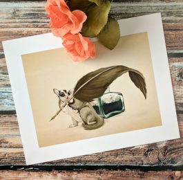 Sugar Glider Writer Art Print