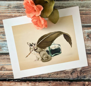 Sugar Glider Writer Art Print