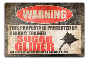 Warning! Sugar Glider Sign