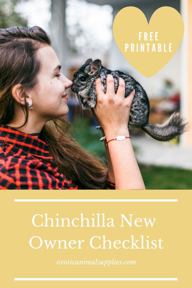 Everything You Need for a Pet Chinchilla - New Owner Checklist Printable