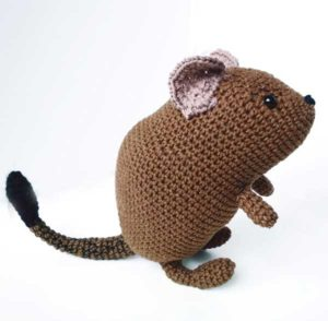 Crocheted Degu Doll