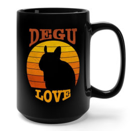 Vintage Degu Love Mug - Gifts for Degu Owners