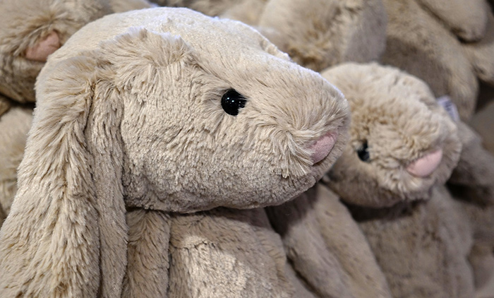Give Stuffed Rabbits for Easter