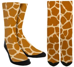Giraffe Print Socks
